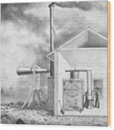 Steam-powered Foghorn Wood Print