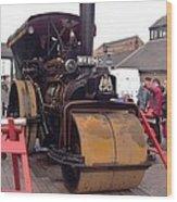 Steam Roller Wood Print
