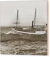 steam-schooner Elizabeth circa 1914 Wood Print
