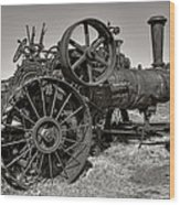 Steam Tractor - Molson Ghost Town Wood Print by Daniel Hagerman