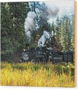 Steam Train 2 Wood Print