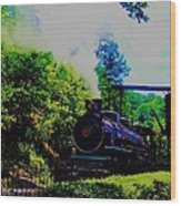 Steam Train Of Sevierville Wood Print