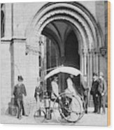 Steam Tricycle, 1888 Wood Print