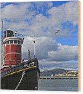 Steam Tug Hercules Wood Print