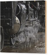 Steam Wheels Wood Print