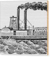 Steamboat, 19th Century Wood Print