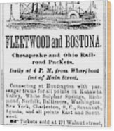 Steamboat Advertisement Wood Print