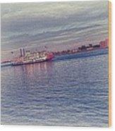 Steamboat Cruise Wood Print