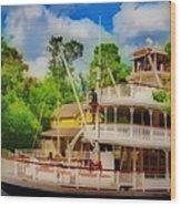 Steamboat  Hdr Wood Print