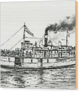 Steamboat Reliance Wood Print