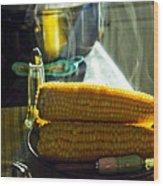 Steaming Corn Wood Print
