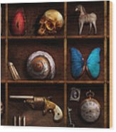 Steampunk - A Box Of Curiosities Wood Print