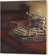Steampunk - A Crusty Old Typewriter Wood Print