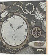 Steampunk Adventure Wood Print