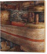 Steampunk - Belts - Old School Is Best Wood Print