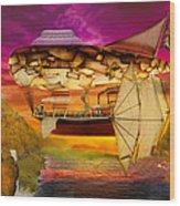 Steampunk - Blimp - Everlasting Wonder Wood Print