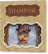 Steampunk Button Wood Print