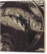 Steampunk Cable Car Brake Wood Print