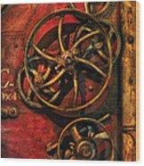 Steampunk - Clockwork Wood Print