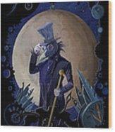 Steampunk Crownman Wood Print