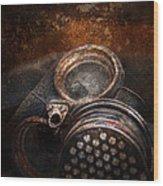 Steampunk - Doomsday  Wood Print by Mike Savad