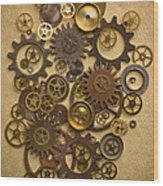Steampunk Gears Wood Print