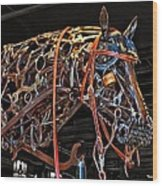 Steampunk Horse Wood Print