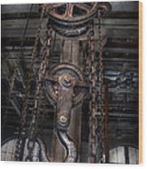 Steampunk - Industrial Strength Wood Print by Mike Savad