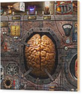 Steampunk - Information Overload Wood Print by Mike Savad
