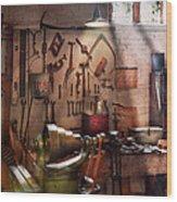Steampunk - Machinist - The Inventors Workshop  Wood Print