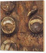 Steampunk - Meters D-66 Wood Print