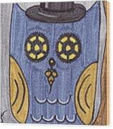 Steampunk Owl Wood Print