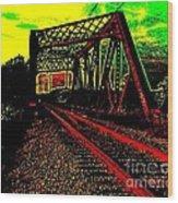 Steampunk Railroad Truss Bridge Wood Print