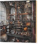 Steampunk - Room - Steampunk Studio Wood Print by Mike Savad