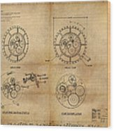 Steampunk Solar Disk Wood Print