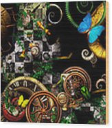 Steampunk - Surreal - Mind Games Wood Print