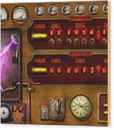 Steampunk - Temporal Flux Wood Print by Mike Savad