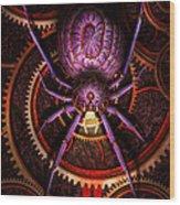 Steampunk - The Webs We Weave Wood Print by Mike Savad