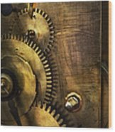 Steampunk - Toothy  Wood Print by Mike Savad