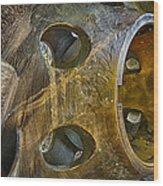 Steampunk Turbine Wood Print