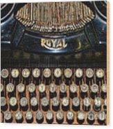 Steampunk - Typewriter -the Royal Wood Print
