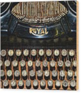 Steampunk - Typewriter -the Royal Wood Print by Paul Ward