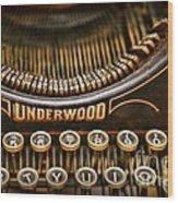 Steampunk - Typewriter - Underwood Wood Print