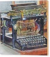 Steampunk - Vintage Typewriter Wood Print