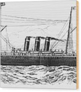 Steamship - City Of New York Wood Print