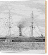 Steamship, 1853 Wood Print