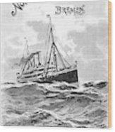 Steamship Menu, 1901 Wood Print