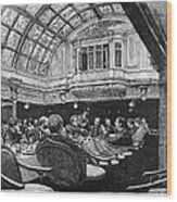 Steamship: Saloon, 1890 Wood Print