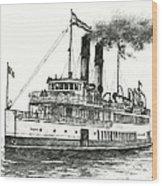 Steamship Tacoma Wood Print