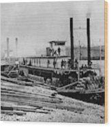 Steamships, C1864 Wood Print
